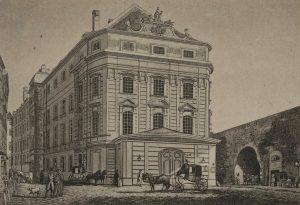Altes Kärntnerthor-Theater 1., Albertinaplatz Ansichtskarte ca. 1897–1899. Wien Museum.