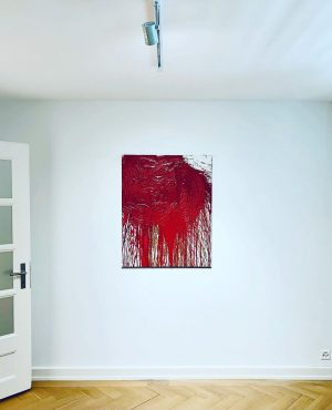 #anotherhappycollector #hermannnitsch #contemporaryart #painting #schüttbild #homeiswheretheartis #wallpower #galerieclemensgunzer #modernmaster