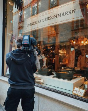 DEMEL ON TV 🎥 some behind the scenes pictures of today's filming of Demel's delicious Kaiserschmarrn for...