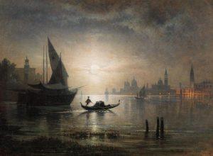 'Venice, a Lunar Night at the Bacino', Karl Heilmayer #Venice has always been a popular motif for...