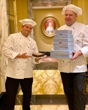 According to our master confectioners Christian and Matthias, Imperial Torte is a key to happiness. Do you...