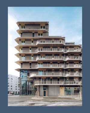 sirius @aspernseestadt very well designed multifunctional building from @helenhardarchitects a complex that mimics a kind of a...