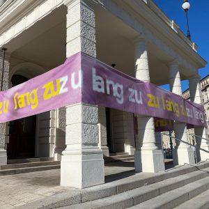 Montag, mit dem Rad in die Wiener Innenstadt gefahren. Volkstheater, MQ..... freu mich wenn es wieder öffnet....