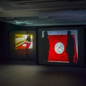 Lawrence Abu Hamdan, Once Removed, 2019, vista dell'installazione al Palazzo della Secessione, 2020. ...