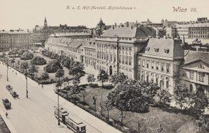K. u. K. Hof-Marstall, Hofstallstraße 1 (heute Museumsquartier) Ansichtskarte 1913. Paul Ledermann. Wien Museum.