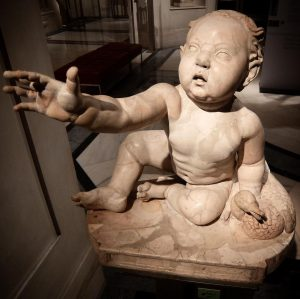Baby boy with an Egyptian goose; which's discovered at the Marble Hall of ...