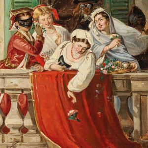 'Cheerful Carnival Party on the Balcony', Salvatore Giaconia. Have a great start into ...