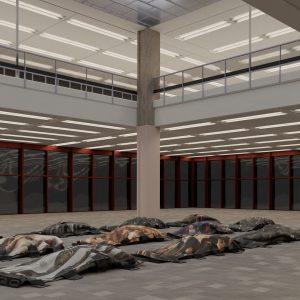 . Genre: Sculpture Year: 2020 Dimensions: 185 x 90 cm Materials: Printed Oxford ...