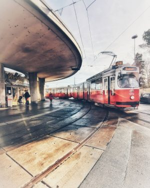 On my way. Following a familiar path. #leptonja #leptonjavienna #ILoveVienna #WonderfulWien #TheCityOfMyHeart #strassenbahnfotografie ...
