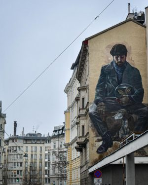 Living in Vienna, you run into art everywhere you go, and I think that's one of my...