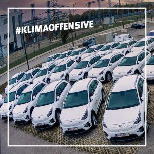 #Klimaoffensive 😎 Wir rüsten unsere E-Flotte auf! ☝️ Von unseren 100 Firmenwägen sind ...