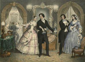 💃 #Ballvergnügen vergangener Zeiten: Ballszene in Paris, um 1840, kolorierte Lithographie von Napoléon Thomas in unseren Sammlungen....