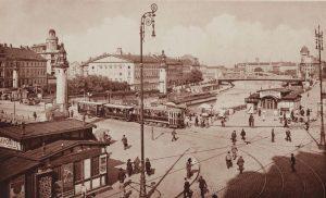 Wien. Schwedenbrücke. Ansichtskarte um 1925. Postkarten-Industrie AG. Wien Museum. Donaukanal