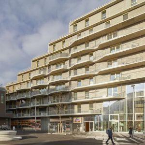 Kennt ihr schon sirius im Seeparkquartier? Das Gebäude von ÖSW und WBV-GPA wurde vom norwegischen Architekturbüro @helenhardarchitects...