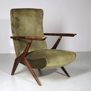 Adjustable Armchair, design and execution Antonio Gorgone. Mid Century is a #style of ...