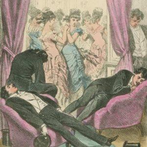 💃 #Ballvergnügen vergangener Zeiten: Ballszene in Wien, Karikatur aus dem Jahr 1879, betitelt: