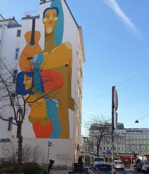 WienGo ✅ Ludwig - Hirsch - Platz Murals von @zesarbahamonte Im Hintergrund Karmelitermarkt ...