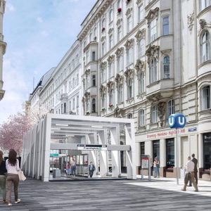 So wird die neue U5 Station in der Schwarzspanierstraße von außen aussehen. Gefällt ...