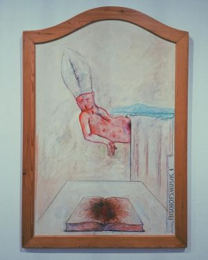 Gott, sei mir Sünder gnädig 🍑✨ #latergram #belvedere21 #wien #kunst #museum Belvedere 21