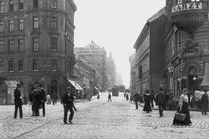 (um 1905/Wienerlinien/Wien Wiki) Fasangasse Die um 1800 vom Rennweg zu den