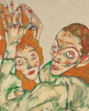 """Lovemaking,"" Schiele, 1915. Detail on the eroticization of the skin, bones and body ..."