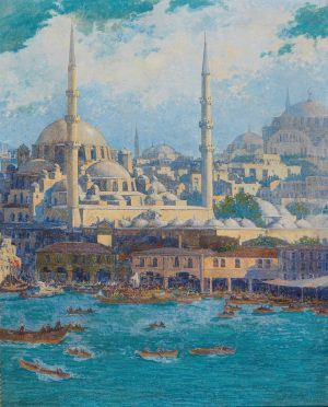 'View over Istanbul', Circle of Max Friedrich Rabe. One part belongs to #Europe, the other to #Asia....