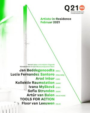 These artists are staying at Q21/ @mqwien as Artists-in-Residence in February 2021: Jan ...