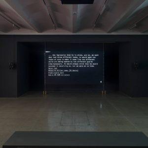 The audiovisual installation