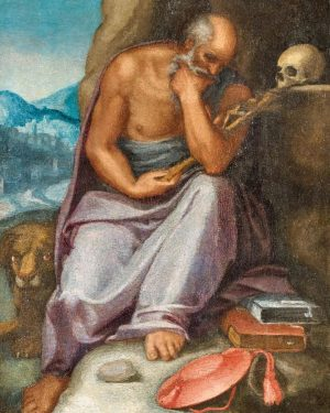 'The Penitent Saint Jerome', Roman School, 16th Century. Don't miss our online auction Old Master Paintings on...