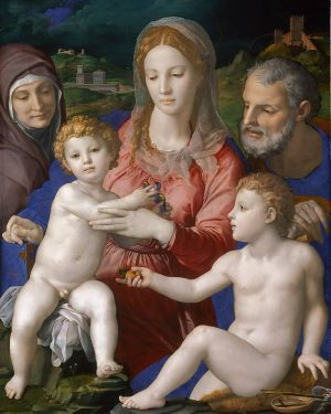 Agnolo di Cosimo, gen. Bronzino Italian, 1503-1572 The Holy Family with St. Anna ...