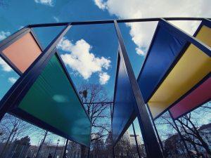 Frühlingsbrise #DonaldJudd #StageSet #Stadtpark #publicart #vienna Wiener Stadtpark