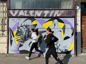 Konnte @eSeLat unlängst #zufällig den #Sprayer #RUIN seelenruhig bei der #Arbeit nahe #Naschmarkt ...