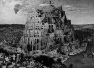 . پیتر بروگِل، برج بابِل، ۱۵۶۳ ____________________ موضوع این نقاشی سازه برج بابل ...