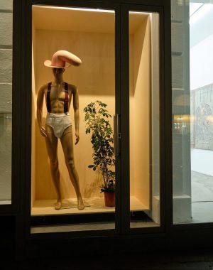 WINDOW SHOPPING Richard Hoeck / John Miller 11-12/2020 in the window space of ...