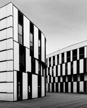 Contrast The D2 building at WU University in Vienna taken back in 2019. ...