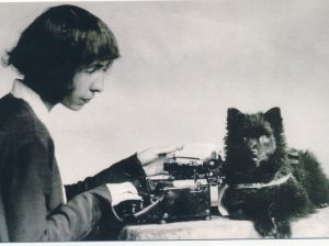 """The beloved typewriter """"Erika"""" remained indispensable to Alma M. Karlin. She took it on her world journey...."""