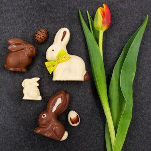 Ob klein, groß, mit Weißer-, Zartbitter- oder Milchschokolade: ein Schokohase darf im Osternest nicht fehlen 🐰 ....