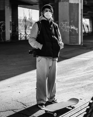 when in doubt, skate and take photographs #skater #photographer #light #shadow #student #urban #camera #portrait
