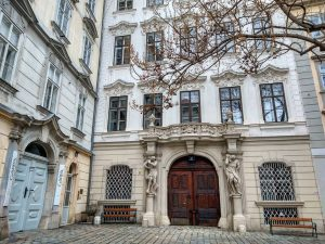 Benches of Vienna: the inner city variety. Sit and watch the world and ...