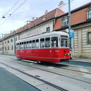 Get a look at these amazing old trams in Vienna 😍 We ride ...