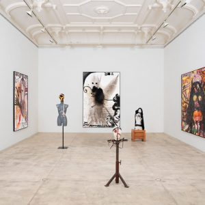 In his 7th solo exhibition at @galeriekrinzinger, Jonathan Meese is following the traits ...