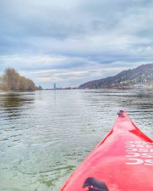 Sommerzeit genützt! #kajak #donau #wien #kayaking #vienna