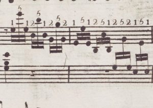 Beethoven's original fingering in the first edition of Piano Sonata Op.2 No.2, i, ...