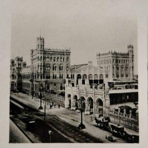 Wien, Nordbahnhof, neue photo. Gesellschaft, Berlin 1904, stereoview from my collection Wien Nordbahnhof