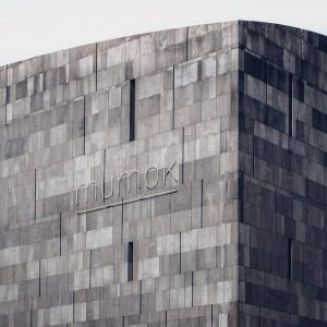 Grey basalt-lava façade / MUMOK (#ModernArtMuseum) building / Vienna / Ortner & Ortner Architects / Photo by:...