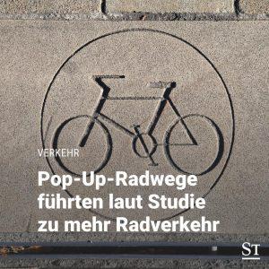 In der Pandemie haben zahlreiche Metropolen auf Pop-Up-Radwege gesetzt, bei denen FahrradfahrerInnen vorübergehend ...
