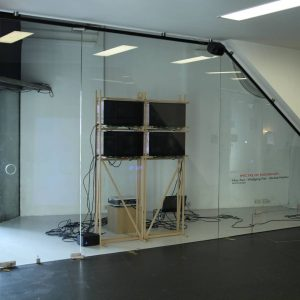 with @icp_culturalpolicy Genre: Timebased Mediainstallation Year: 2021 Material: Electronically Choreographed architectural form and semi-transparent LCD screens. #artinstallation...