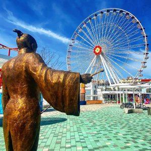 Calafati dirigiert das Blumenrad #prater #wurstelprater #calafati #basiliocalafati #wienerprater #blumenrad #rummel #fair #wien #vienna #igersvienna #igersviennaclassics #nofilter...