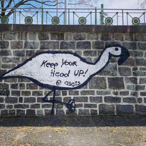 Keep your head up #wienfluss #graffiti #vienna