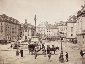 Wien, 1. Bezirk, Am Hof, Blick Richtung Norden, es befinden sich noch zwei ...